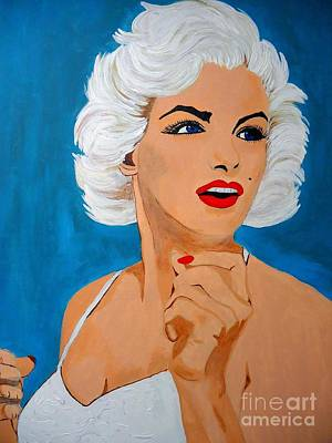 Painting - Marilyn In Her Glory2 by Saundra Myles