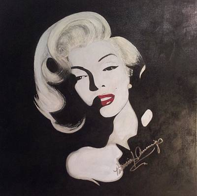Painting - Marilyn In The Moonlight by Patricia Brewer-Cummings