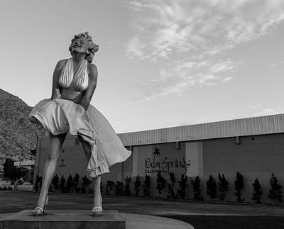 Actors Royalty Free Images - Marilyn in the Morning BW Royalty-Free Image by John Daly