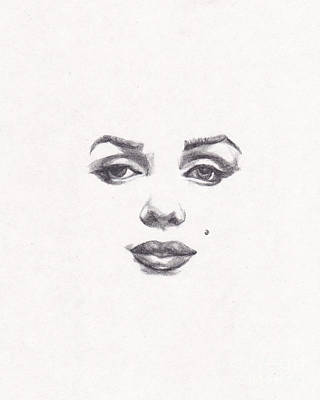 Drawing - Marilyn by Lee Ann Shepard