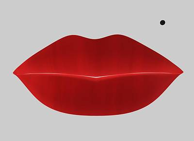 Digital Art - Marilyn Lips by Louis Ferreira