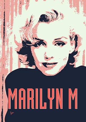 Monroe Digital Art - Marilyn M by Chungkong Art