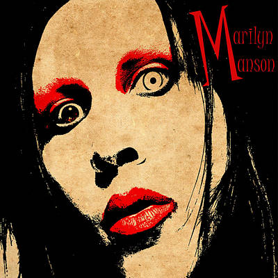 Marilyn Photograph - Marilyn Manson by Andrew Fare