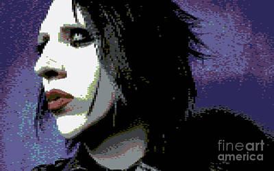 Marilyn Manson Art Print by Kyle Walker