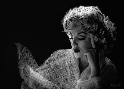 Marilyn Art Print by Marina Likholat