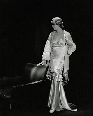 Marilyn Miller Wearing A Satin Dress Art Print by Tony Von Horn