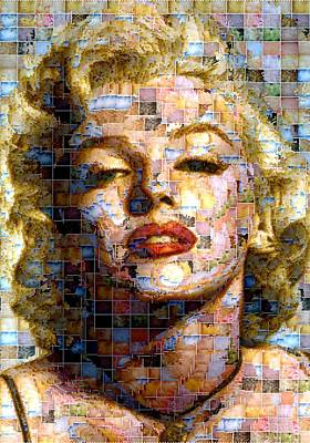Digital Art - Marilyn Monroe - Ceramics by Samuel Majcen