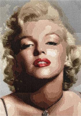 Digital Art - Marilyn Monroe - Cloth by Samuel Majcen