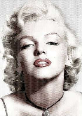Digital Art - Marilyn Monroe - Colored Hexagons by Samuel Majcen