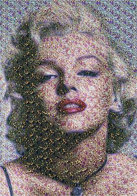 Digital Art - Marilyn Monroe - Fractal by Samuel Majcen