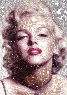 Digital Art - Marilyn Monroe - Maple Leaves by Samuel Majcen