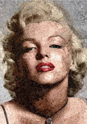 Digital Art - Marilyn Monroe - Marble by Samuel Majcen