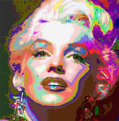 Digital Art - Marilyn Monroe 01 - Abstarct by Samuel Majcen
