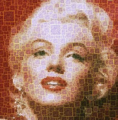 Painting - Marilyn Monroe - 01 Qr Code by Samuel Majcen