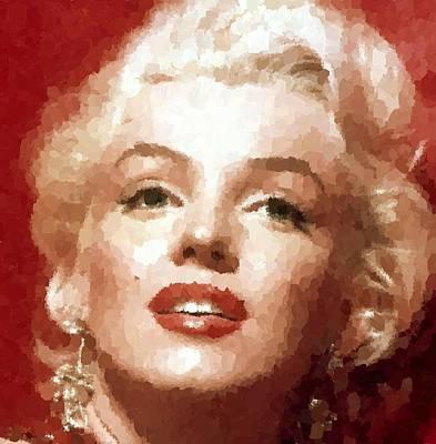 Painting - Marilyn Monroe 01 by Samuel Majcen