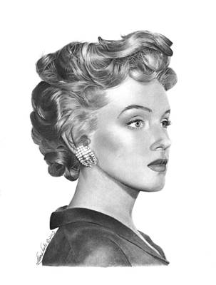 Drawing - Marilyn Monroe - 014 by Abbey Noelle