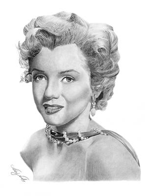 Marilyn Monroe Drawing - Marilyn Monroe - 016 by Abbey Noelle