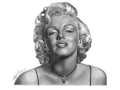 Drawing - Marilyn Monroe - 018 by Abbey Noelle