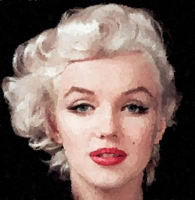 Painting - Marilyn Monroe 02 by Samuel Majcen