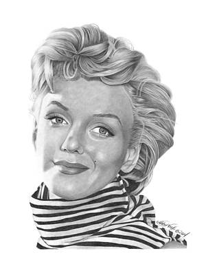 Drawing - Marilyn Monroe - 029 by Abbey Noelle