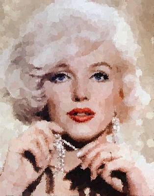Painting - Marilyn Monroe 03 by Samuel Majcen