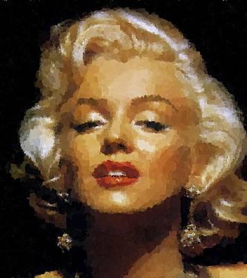 Painting - Marilyn Monroe 04 by Samuel Majcen