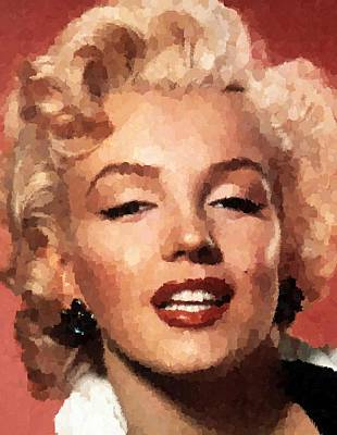 Painting - Marilyn Monroe 05 by Samuel Majcen