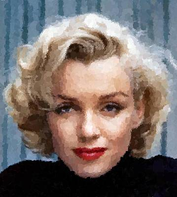 Painting - Marilyn Monroe 06 by Samuel Majcen