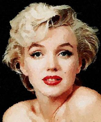 Painting - Marilyn Monroe 07 by Samuel Majcen