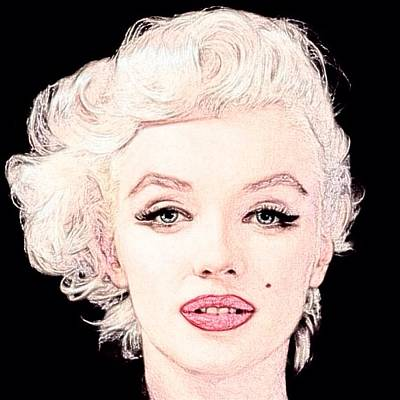 Digital Art - Marilyn Monroe 2 by Lisa Piper
