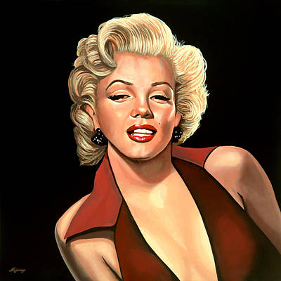 Business Painting - Marilyn Monroe 4 by Paul Meijering