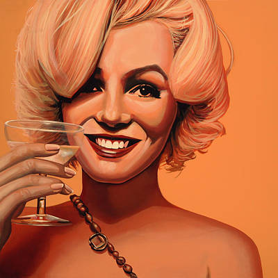 Blonde Painting - Marilyn Monroe 5 by Paul Meijering
