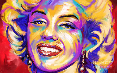 Painting - Marilyn Monroe Abstract Expressionism by Tim Gilliland