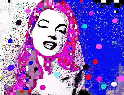 Painting - Marilyn Monroe Abstract Impression by Saundra Myles