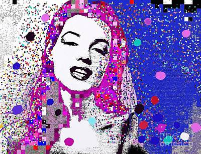 Painting - Marilyn Monroe Abstract  Portrait 1 by Saundra Myles