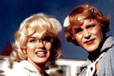 Digital Art - Marilyn Monroe And Jack Lemon Portrait by Gabriel T Toro
