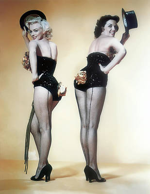 Marilyn Monroe And Jane Russell Art Print by Daniel Hagerman