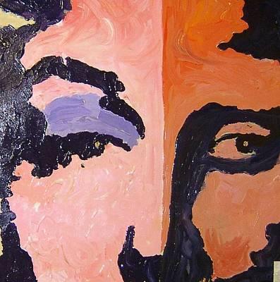 Mona Lisa Mixed Media - Marilyn Monroe And Mona Lisa by Rebecca Lou Mudd