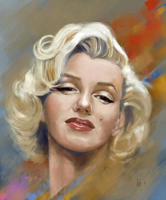 Marilyn Monroe Art Print by Arie Van der Wijst