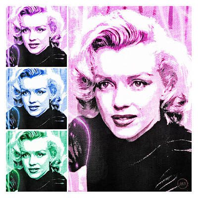 Digital Art - Marilyn Monroe Art Collage by Absinthe Art By Michelle LeAnn Scott