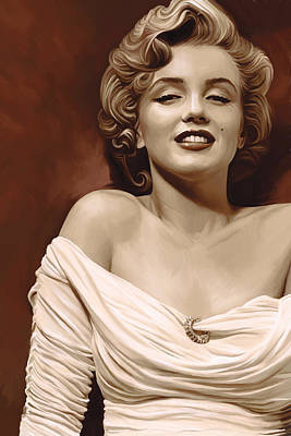 Elvis Presley Mixed Media - Marilyn Monroe Artwork 2 by Sheraz A