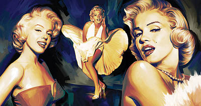 Elvis Presley Mixed Media - Marilyn Monroe Artwork 3 by Sheraz A
