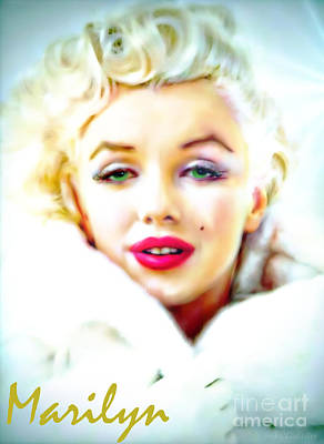 Marilyn Monroe Art Print by Barbara Chichester