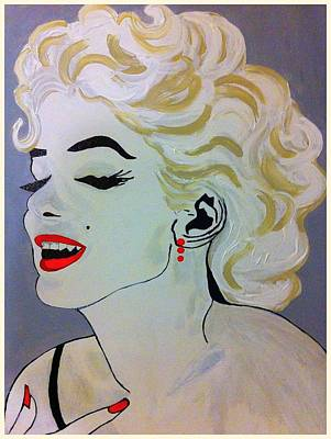 Painting - Marilyn Monroe Beautiful by Saundra Myles
