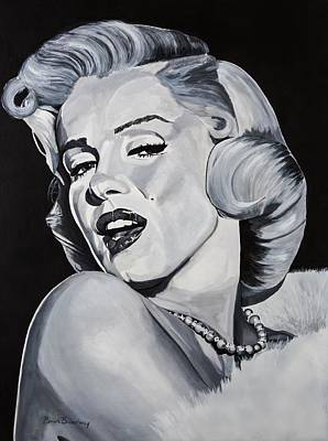 Marylin Painting - Marilyn Monroe by Brian Broadway
