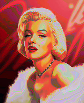 Marilyn Monroe Print by  Fli Art