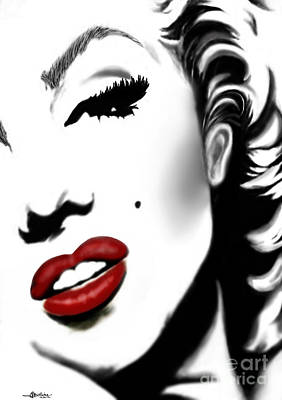 Seductive Mixed Media - Marilyn Monroe by Christine Mayfield
