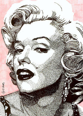 Celebrity Art Drawing - Marilyn Monroe by Cory Still