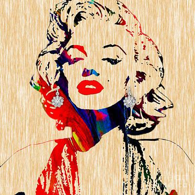 Marilyn Monroe Mixed Media - Marilyn Monroe Diamond Earring Collection by Marvin Blaine