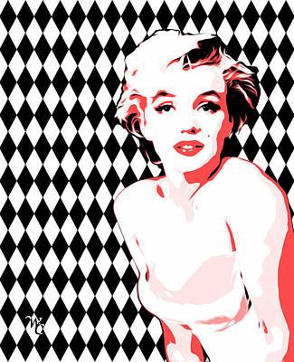 Popart Digital Art - Marilyn Monroe - Diamonds - Pop Art by William Cuccio aka WCSmack
